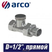 """Клапан радиаторный прямой Arco TEIDE PLUS D1/2""""x1/2"""""""