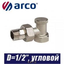 """Клапан радиаторный угловой Arco TEIDE PLUS D1/2""""x1/2"""""""