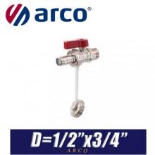 """Кран дренажный Arco LOCKSHIELD D1/2""""x3/4"""""""