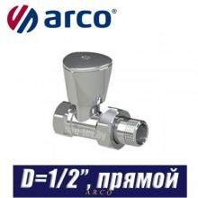"""Кран радиаторный прямой Arco TEIDE PLUS D1/2"""""""