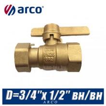 Кран шаровой Arco SIL D=3/4″x1/2″ вн/вн