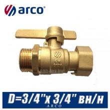Кран шаровой Arco SIL D=3/4″x 3/4″ вн/нар