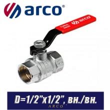 Кран шаровый Arco TURIA 3000/VA40 D1/2ʺx1/2ʺ, вн/вн.
