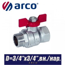 Кран шаровый Arco TURIA 3000/VA40 D3/4ʺx3/4ʺ, вн/нар.
