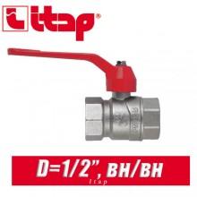 """Кран шаровый с ручкой Itap D1/2"""" (15 мм) вн/вн"""