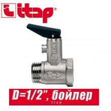 """Клапан спускной для бойлера с курком Itap D1/2"""" арт. 367"""