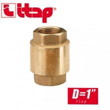 """Обратный клапан пружинный EUROPA Itap D1"""" арт. 100"""