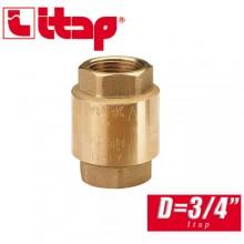 """Обратный клапан пружинный EUROPA Itap D3/4"""" арт. 100"""