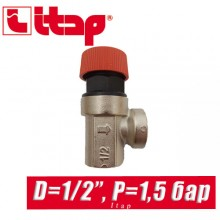 "Сбрасывающий клапан Itap D1/2"" P=1,5 bar арт. 368"