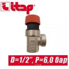 "Сбрасывающий клапан Itap D1/2"" P=6 bar арт. 368"