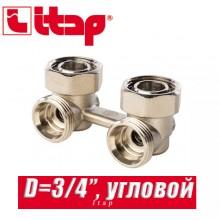 """Угловой двухтрубный клапан Itap D=3/4"""" арт. 315"""