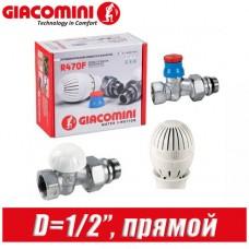 "Комплект Giacomini D=1/2"" прямой R470FX013"