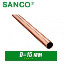 Труба медная HME Sanco D=15 мм