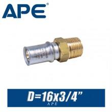 """Переход под пресс APE D16x3/4"""", нар."""