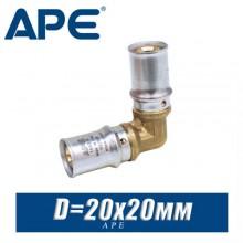 Угол под пресс APE D20x20 мм