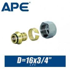 """Евроконус APE D16x3/4"""", вн."""