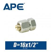 "Переход цанговый APE D16x1/2"", вн."