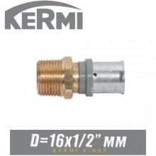 """Переход под пресс Kermi x-net D16x1/2"""", нар."""