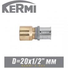 """Переход под пресс Kermi x-net D20x1/2"""", вн."""