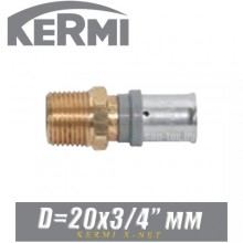 """Переход под пресс Kermi x-net D20x3/4"""", нар."""