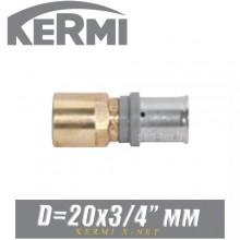 """Переход под пресс Kermi x-net D20x3/4"""", вн."""
