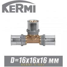 Тройник под пресс Kermi x-net D16x16x16 мм
