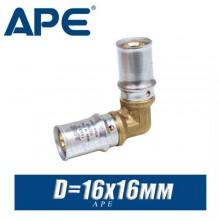 Угол под пресс APE D16x16 мм