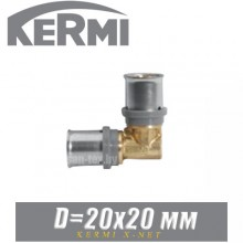 Угол под пресс Kermi x-net D20x20 мм