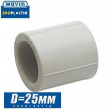 Муфта соединительная Wavin D25 мм