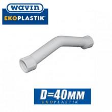 Обвод муфтовый полипропилен Wavin D40 мм
