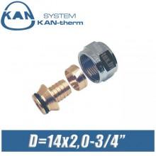 "Евроконус KAN-therm D14x2,0-3/4"", вн."