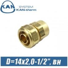 """Соединитель KAN-therm свинч D=14x2,0-1/2"""", вн."""