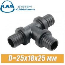 Тройник KAN-therm Push PPSU D=25x18x25 мм
