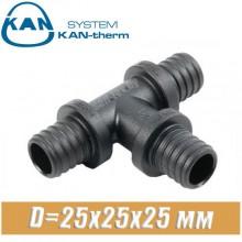 Тройник KAN-therm Push PPSU D=25x25x25 мм