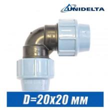 Угол ПЭ Unidelta D=20x20 мм