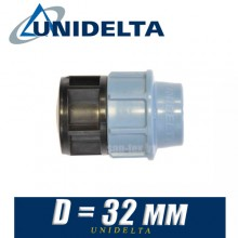 Заглушка полиэтилен Unidelta D32мм