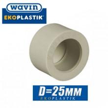 Заглушка паечная полипропилен Wavin D25мм