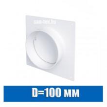 Фланец с обратным клапаном D=100 мм и пластиной
