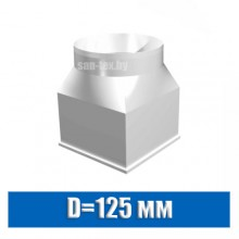 Соединитель каналов 120х120мм / D=125 мм