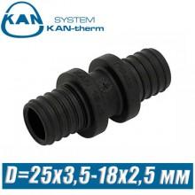 Соединитель KAN-therm Push PPSU D=25x3,5-18x2,5 мм