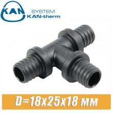 Тройник KAN-therm Push PPSU D=18x25x18 мм