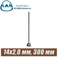 Трубка хром KAN-therm Push Cu15-14x2,0 мм, 300 мм