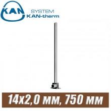 Трубка хром KAN-therm Push Cu15-14x2,0 мм, 750 мм