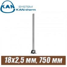 Трубка хром KAN-therm Push Cu15-18x2,5 мм, 750 мм
