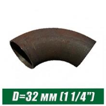 """Отвод стальной черный крутоизогнутый D=32 мм (1 1/4"""")"""