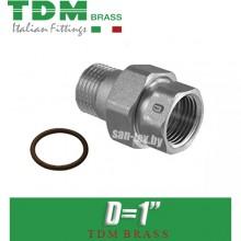 """Американка никелированная прямая TDM Brass D1"""""""