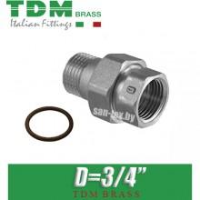 """Американка никелированная прямая TDM Brass D3/4"""""""