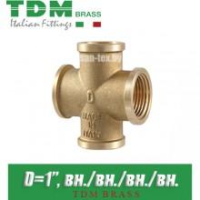"""Крестовина латунная TDM Brass D1"""""""