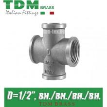 "Крестовина никелированная TDM Brass D1/2"""