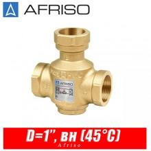 Трехходовой термический клапан Afriso ATV333 D=1'', вн (45°С)